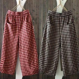 [PO] Boho Retro Checks Culottes (22)