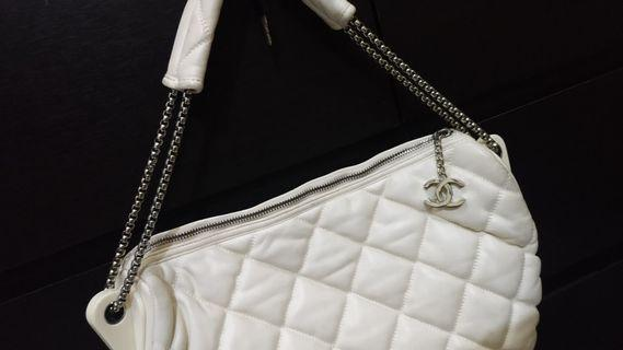 Chanel white mirror limited edition bag
