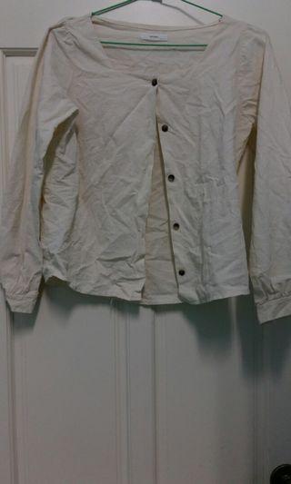 🚚 白色襯衫/外套