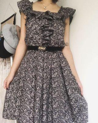 ruffled pattern dress