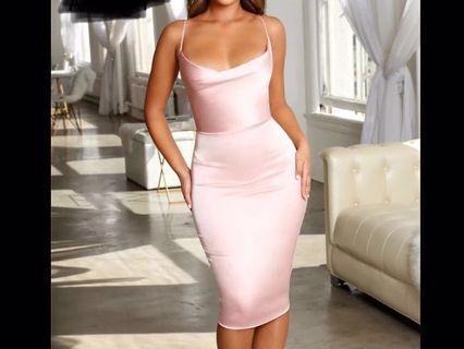 Satin Stretchy Varied Colours Dress ( Preorder) second item half price