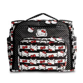 JuJuBe BFF Diaper Bag - Hello Kitty Dots & Stripes Backpack/Slingback