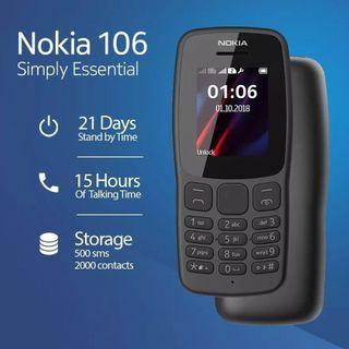 Nokia 106 Dual SIM Dark Grey (2018) Original