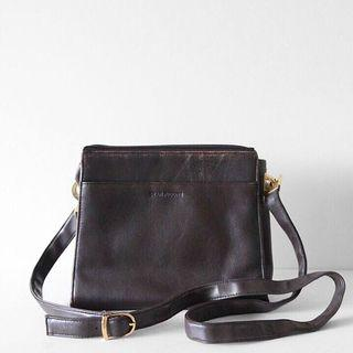 Brown Leather aside Bag