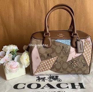 Coach Mini Bennet in signature star patchwork