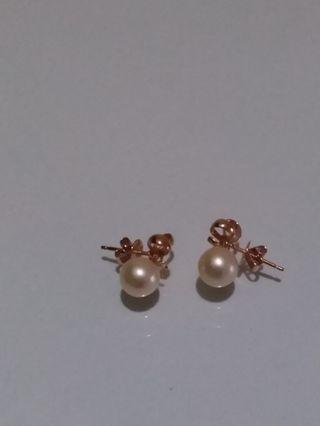 Genuine Pearl Earrings (18k)