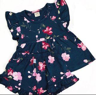 🚚 Carter's Floral Set (Navy Purple)