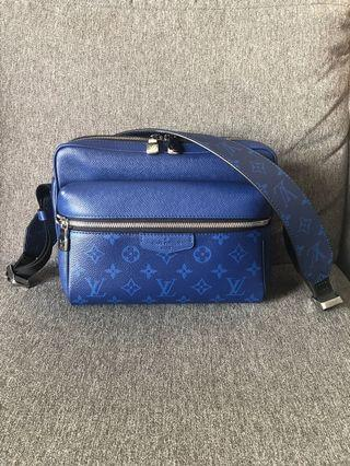Louis Vuitton LV Outdoor Messenger Taigarama Cobalt monogram pacific 藍