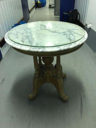 Round Marble Table short