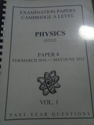 A2-LEVEL PHYSICS PAPER 4