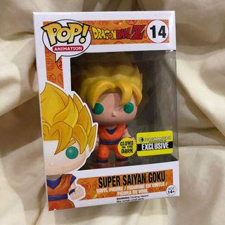 Pop Funko Japanese Anime DBZ Dragonball Z Super Saiyan Goku GITD Glow Exclusive