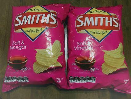 100%全新澳洲🇦🇺Smith薯片(大包裝)Salt & Vinegar