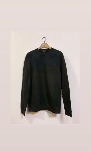 COS Sweater with suede cutting in black