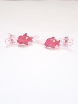 🆕️Cute Pink Dolphin Hair Clips