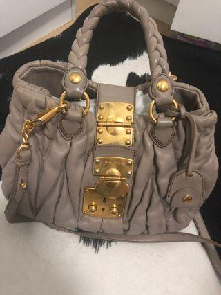 Authentic MIU MIU 2 way handbag