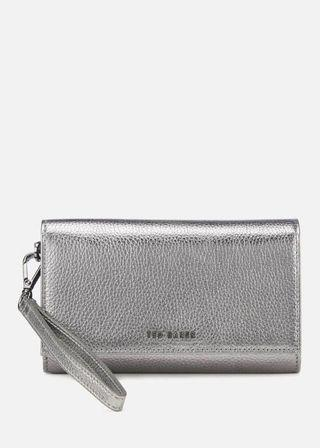 🚚 TED BAKER WOMEN'S HOLLI TEXTURED FRENCH PURSE - GUNMETAL (Preorder)