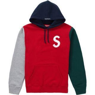 Medium Supreme S Logo Colorblocked Hoodie