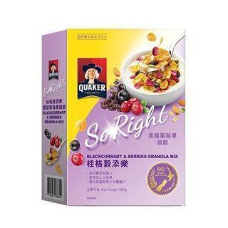 🚚 桂格穀添樂 黑醋栗莓果脆穀(300g)