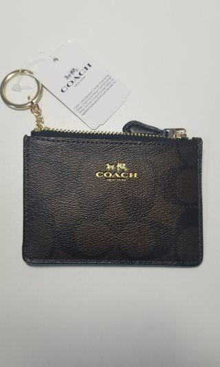 Coach Wallet card holder leather key chain 八達通卡套真皮銀包