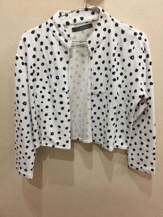 Black and White Polkadot Blazer