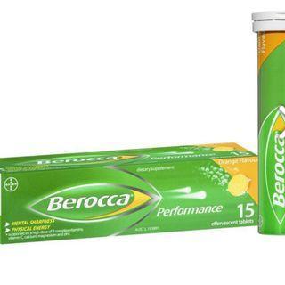 Berocca 🇦🇺寶力加橙味水溶片 Energy Vitamin Orange Effervescent (15片裝)