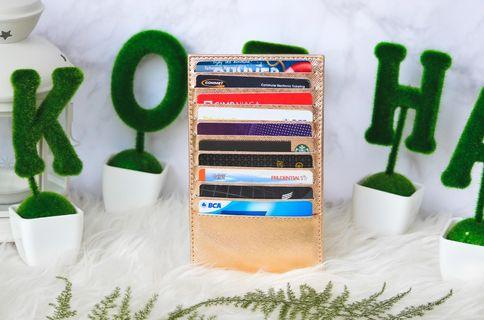 Metallic Card Holder 20 Slot - Kozha (tempat kartu) #maujam