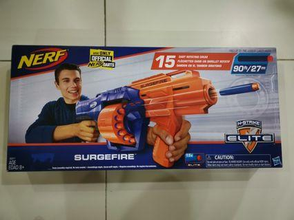 Brand new in box Genuine N-Strike Elite SurgeFire Nerf Gun