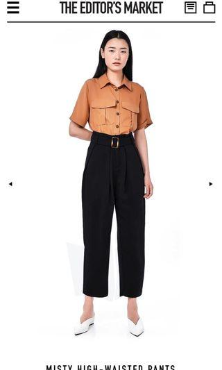 The Editor's Market Misty High-Waisted Pants