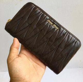 Authentic Miu Miu Wallet Materasse Zippy Wallet