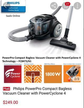 Philips PowerPro  Compact Bagless Vacuum Cleaner w Power Cyclone 4 Tecnology