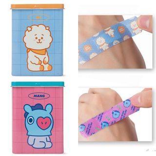 bt21膠布創可貼bandage bt21代購同款韓國代購 line代購