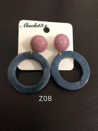 🚚 Acrylic earrings - blue