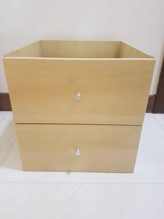 Kallax birch drawer insert