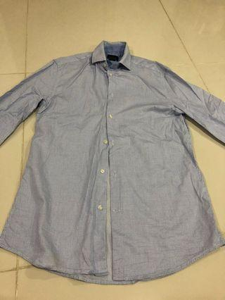 H&M long-sleeve premium cotton work shirt in Small