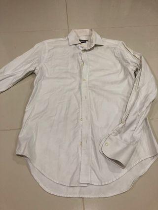 Zara Man long-sleeve white shirt (Slim Fit)
