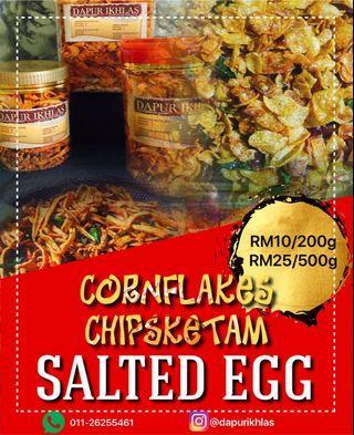 Salted egg chips snacks