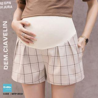 Checkered Maternity Shorts MTP-0018