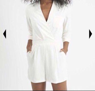 TopShop Cream Double Breasted Romper