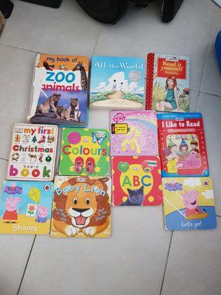 All in 1 Baby kids hard cover books