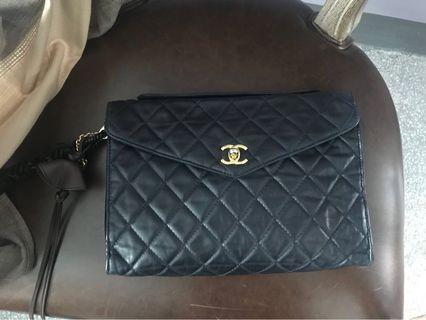 (包郵)100%real Chanel Vintage clutch 3way handbag