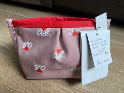 全新Agnes b化妝袋日本制造