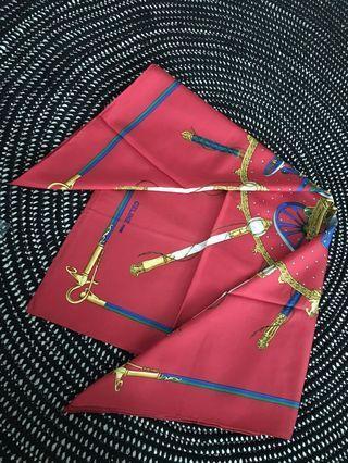 rare vintage Celine 88cm 100%silk scarf 絕版Celine 真絲大絲巾 披肩