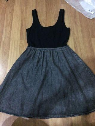 H&M Divided Black Grey Dress