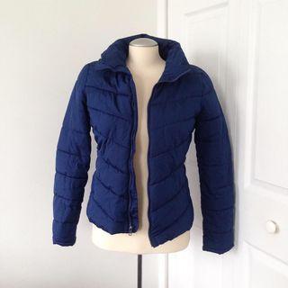 Navy blue puffer jacket