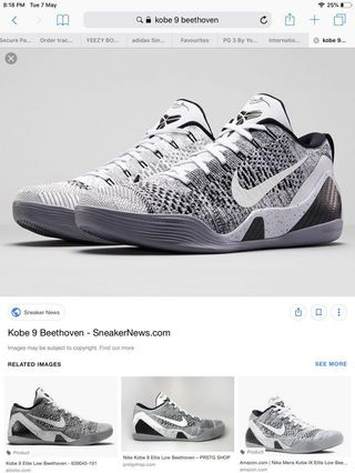 982b3be56f6 Kobe 9 elite beethoven US9.5