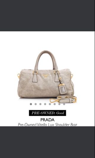 858684c4ca34 Prada Vitello Lux Shoulder Bag, Luxury, Bags & Wallets, Handbags on  Carousell