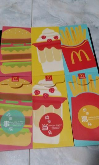 2019 MCdonald Angpow/Redpackets selling only sgd5!