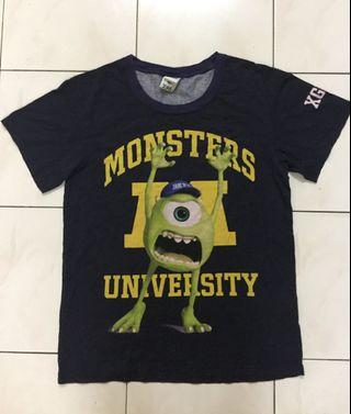 X-girl x monster inc tshirt made in japan
