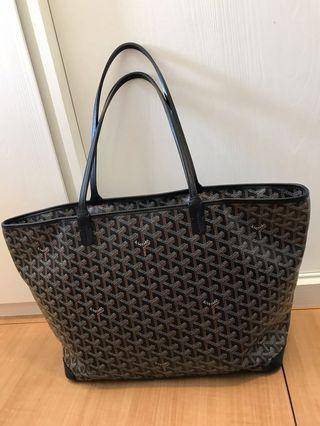 任驗 Full set Goyard Artois MM size tote black color #milan02