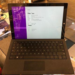 二手 微軟surface pro3 I3處理器 64G 附鍵盤 機況佳9成新 高雄實體店面 延長保固